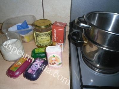 Domaći nežni sufle-sapun sa mlekom,medom i bademovim uljem