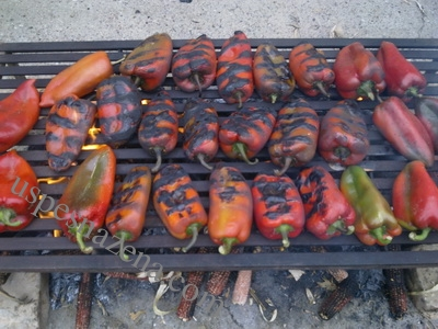 Ajvar sa pecenom paprikom i plavim patlidzanom