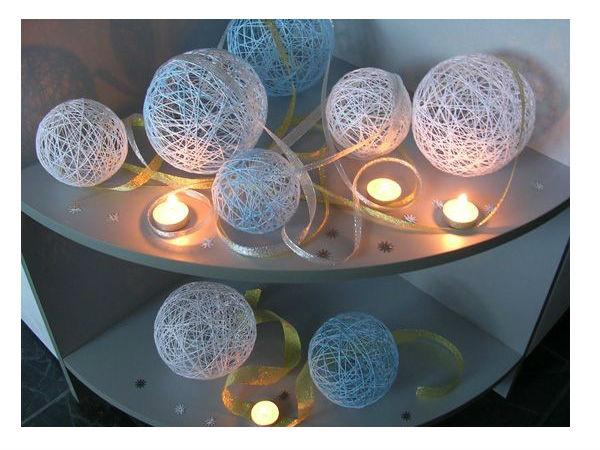Ideja praznične dekoracije vaše kuće. Originalna novogodišnja lopta.