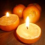 Mirisna sveća od narandže. Napravite sami.