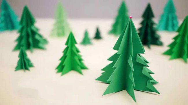 Kako jednostavno napraviti novogodišnju 3D jelku od papira