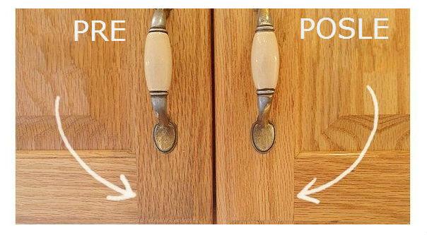Kako ukloniti masne naslage sa kuhinjskih elemenata od drveta