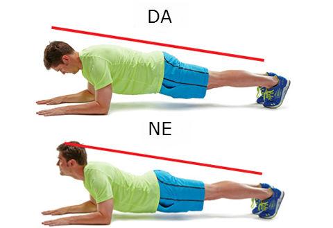 "Kako raditi vežbu ""Plank"":"