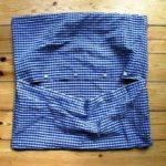 Dekorativna jastučnica od stare muške košulje. Napravite sami.
