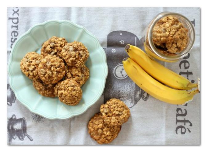 Keksići od banana i ovsenih pahuljica. Brzo, zdravo i ukusno!