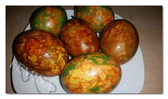 Uskršnja mermerna jaja: na dva načina. Korak po korak.