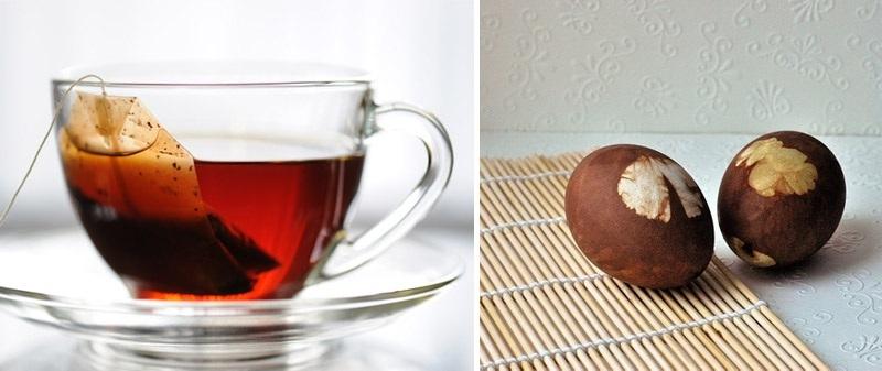 Braon Tamnobraon jaja dobićete ako pomešate šoljicu jake kafe sa kašikom sirćeta, a svetlobraon kuvajući ih u crnom čaju.