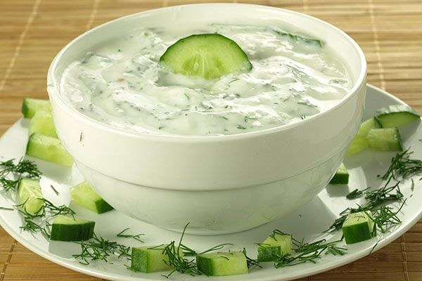 Tzatziki sos. Recept.