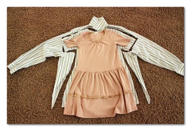 Simpatična haljinica za devojčicu od tatine košulje