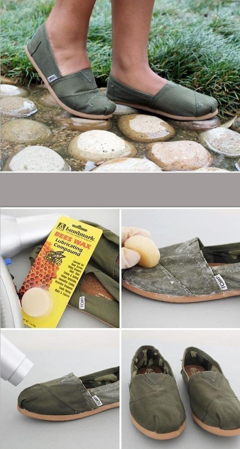 Za vodootpornost platnene obuće