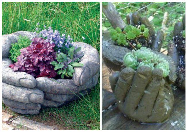 """Dekorativna saksija """"Dlanovi"""" - lep ukras za vaše dvorište."""