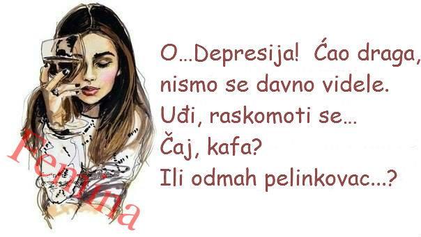 ♥ Depresija je kao dama u crnom. Ako je došla kod vas - ne terajte je. Pozovite je za sto, kao gošću, i poslušajte šta ona namerava da vam kaže.