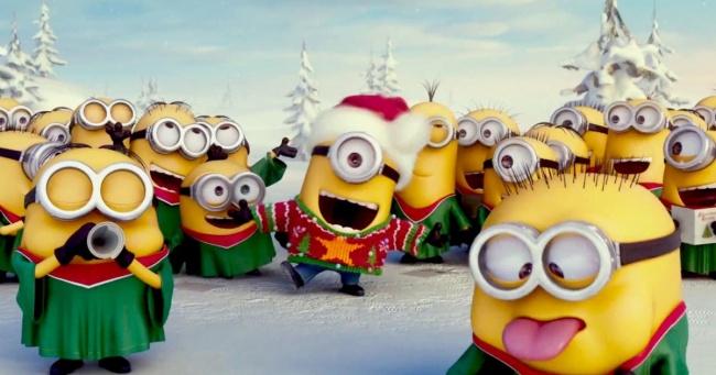 Očaravajuća božićna pesma od minjona.