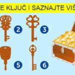 Odaberite ključ koji, po vašem mišljenju, može otvoriti ovaj kovčeg, i saznajte šta krije vaša podsv...