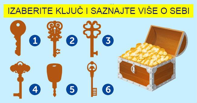 Odaberite ključ koji, po vašem mišljenju, može otvoriti ovaj kovčeg, i saznajte šta krije vaša podsvest.