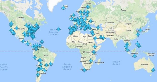 Dragocena mapa sa Wi-Fi šiframa bilo kojeg aerodroma na svetu.