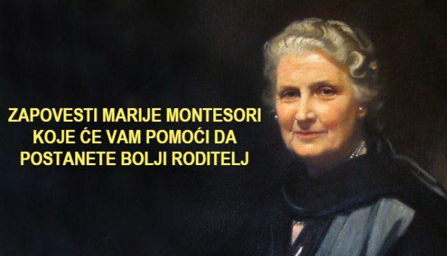 19 zapovesti Marije Montesori za roditelje