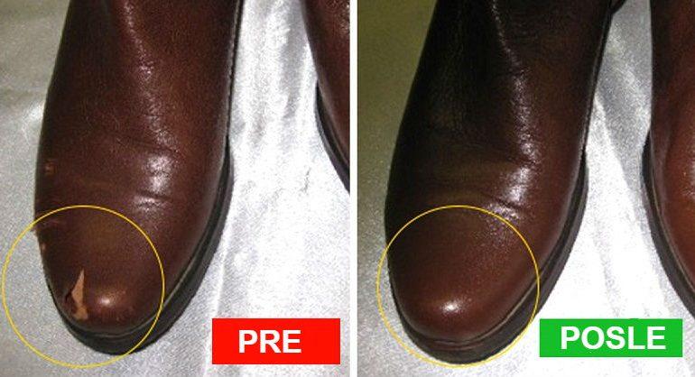 Kako ukloniti oštećenja sa obuće i kožnog nameštaja