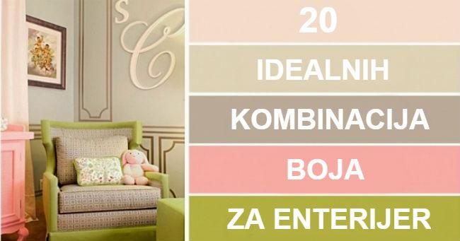 Dvadeset kombinacija boja za enterijer